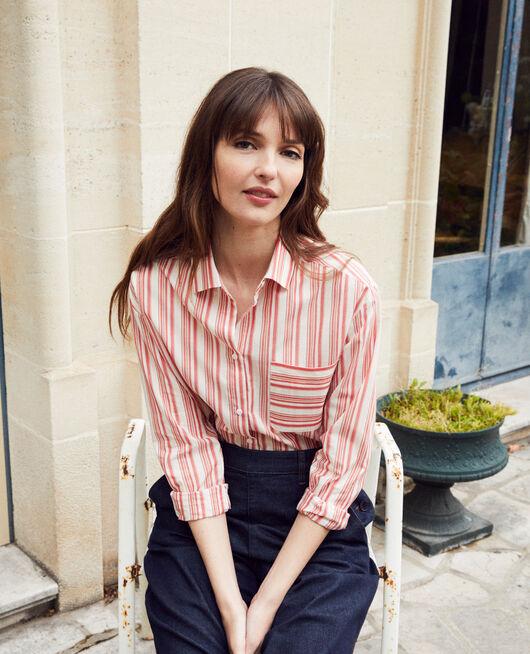 Striped cotton shirt DS MOLTEN LAVA