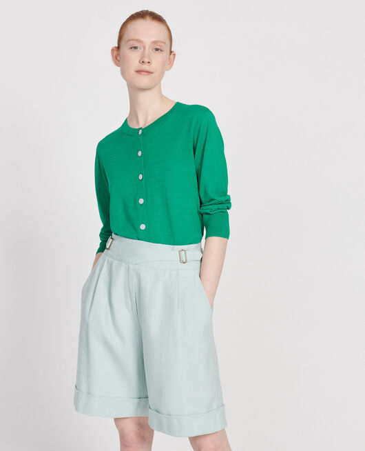 Linen cardigan GOLF GREEN