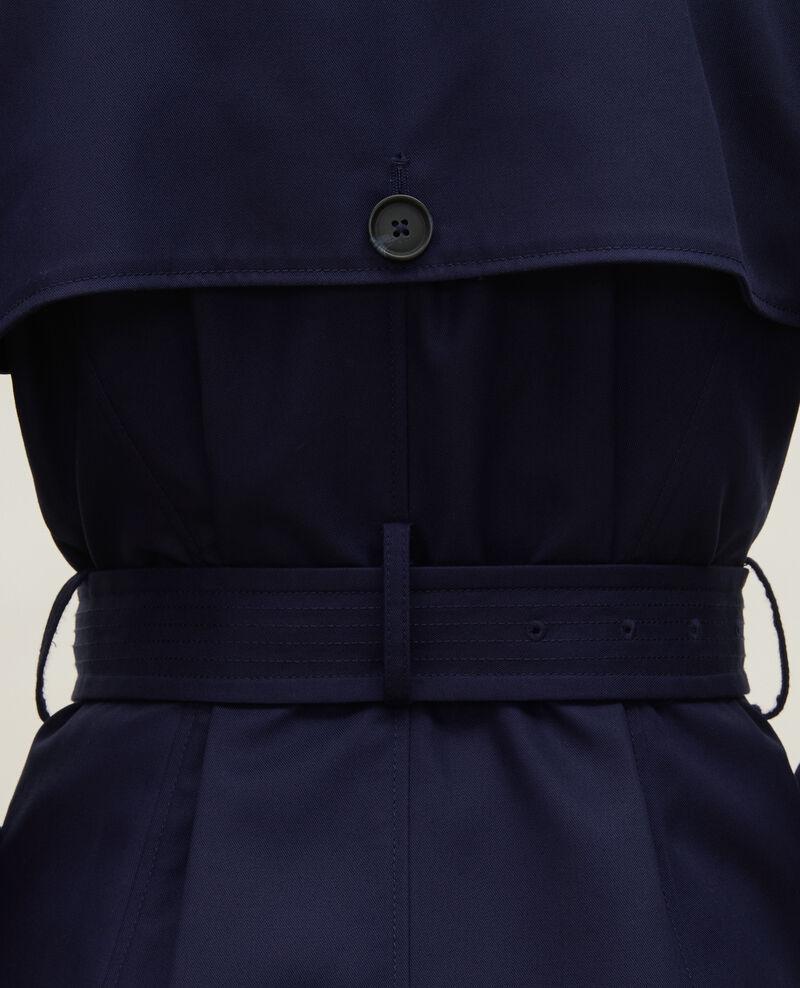 CATHERINE - Iconic cotton trench Maritime blue Lambert