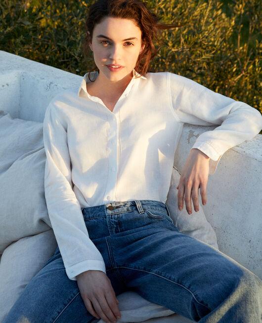 Linen shirt OFF WHITE