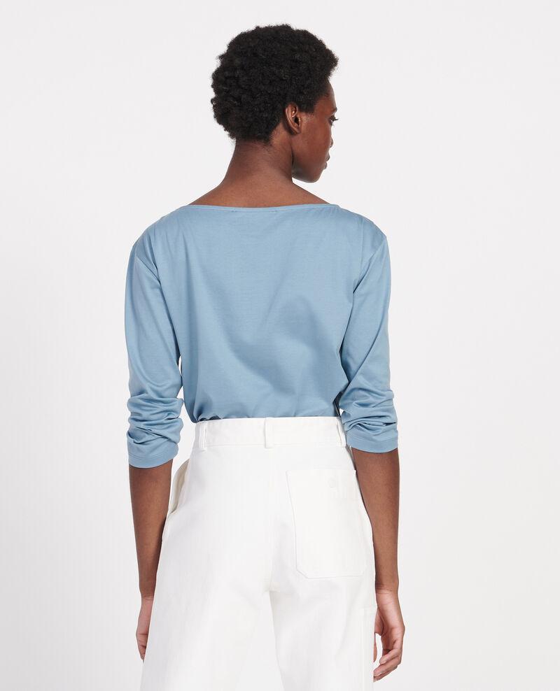 Boatneck long-sleeve cotton t-shirt Bluestone Lotel