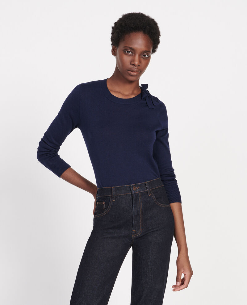 Silk and cashmere blend jumper Maritime blue Lanana