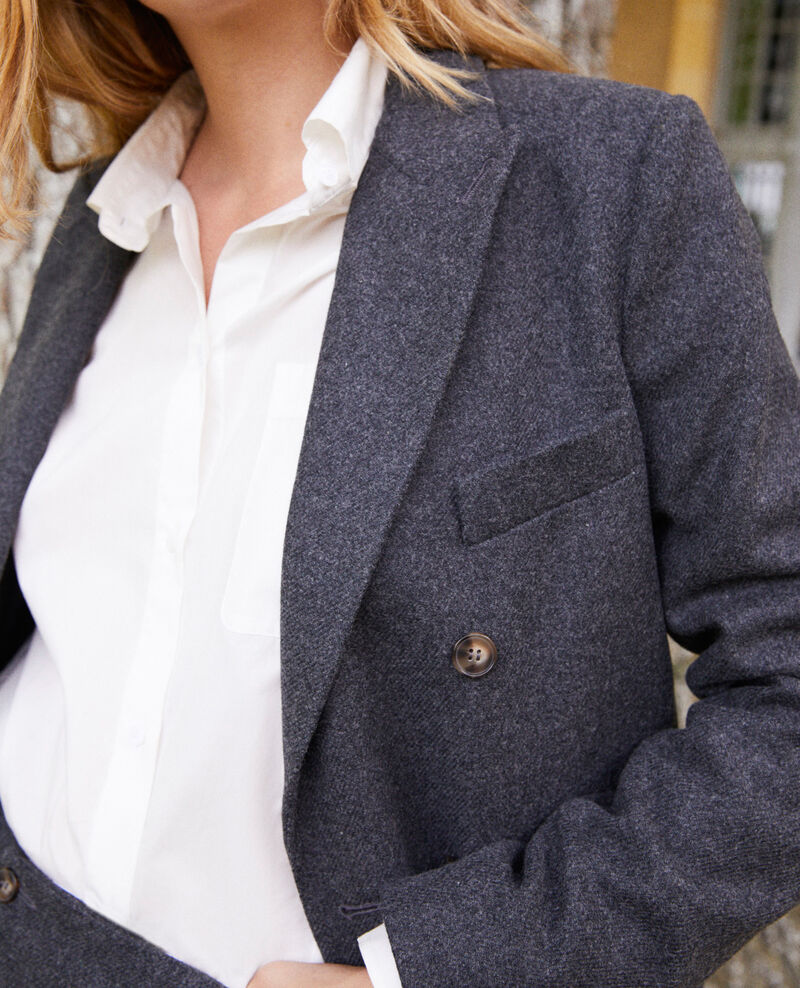 Wool blend blazer Heather grey Jermain