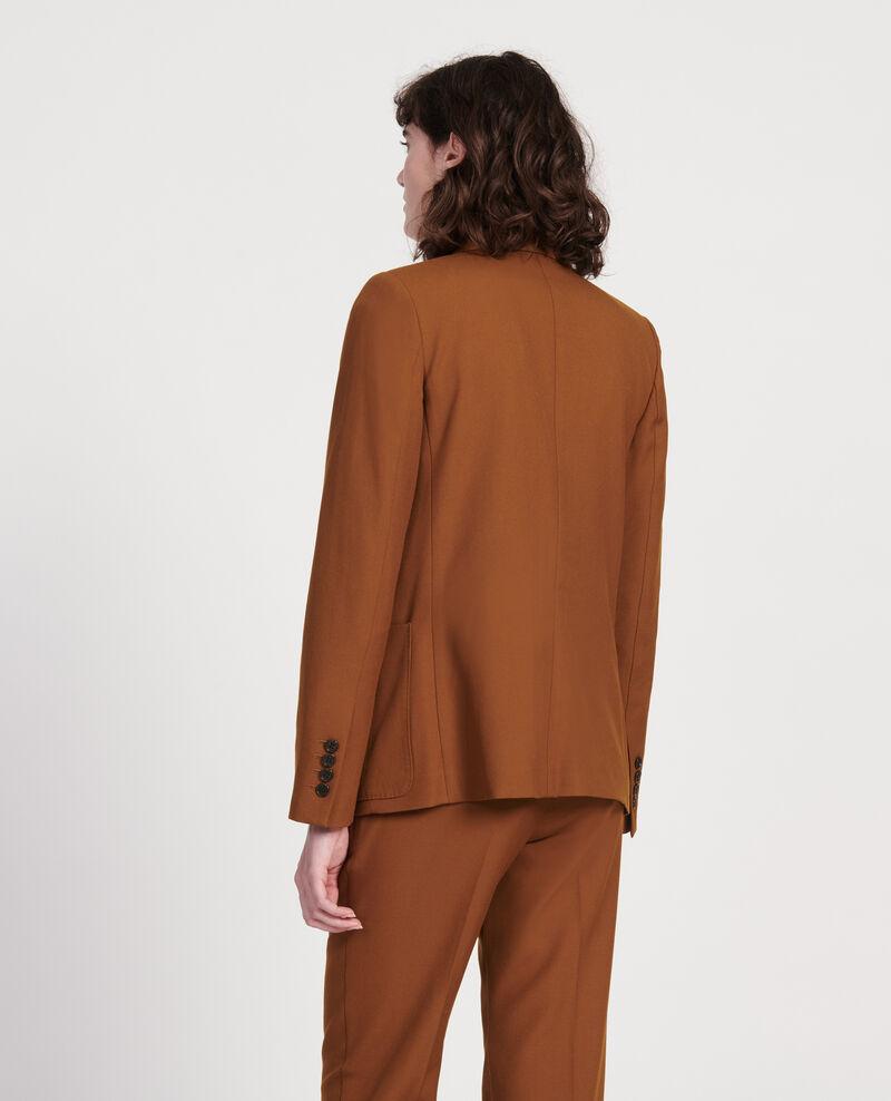 Lightweight smooth wool blazer Monks robe Luscade