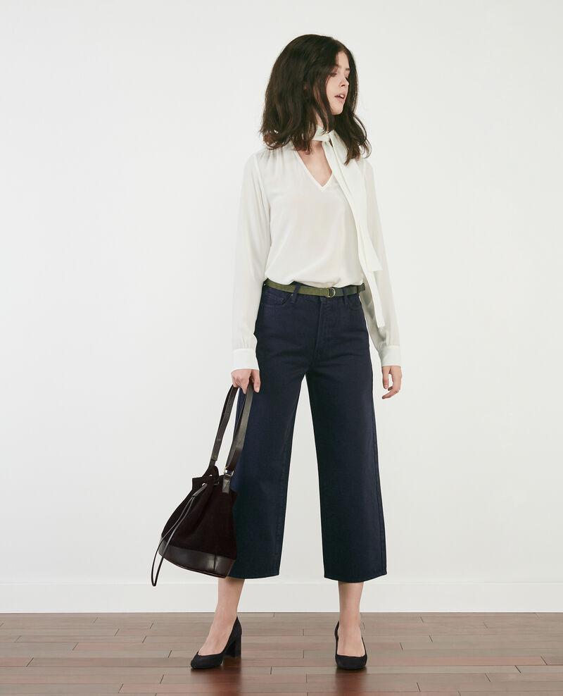 Wide cropped jeans Navy overdye Delenta