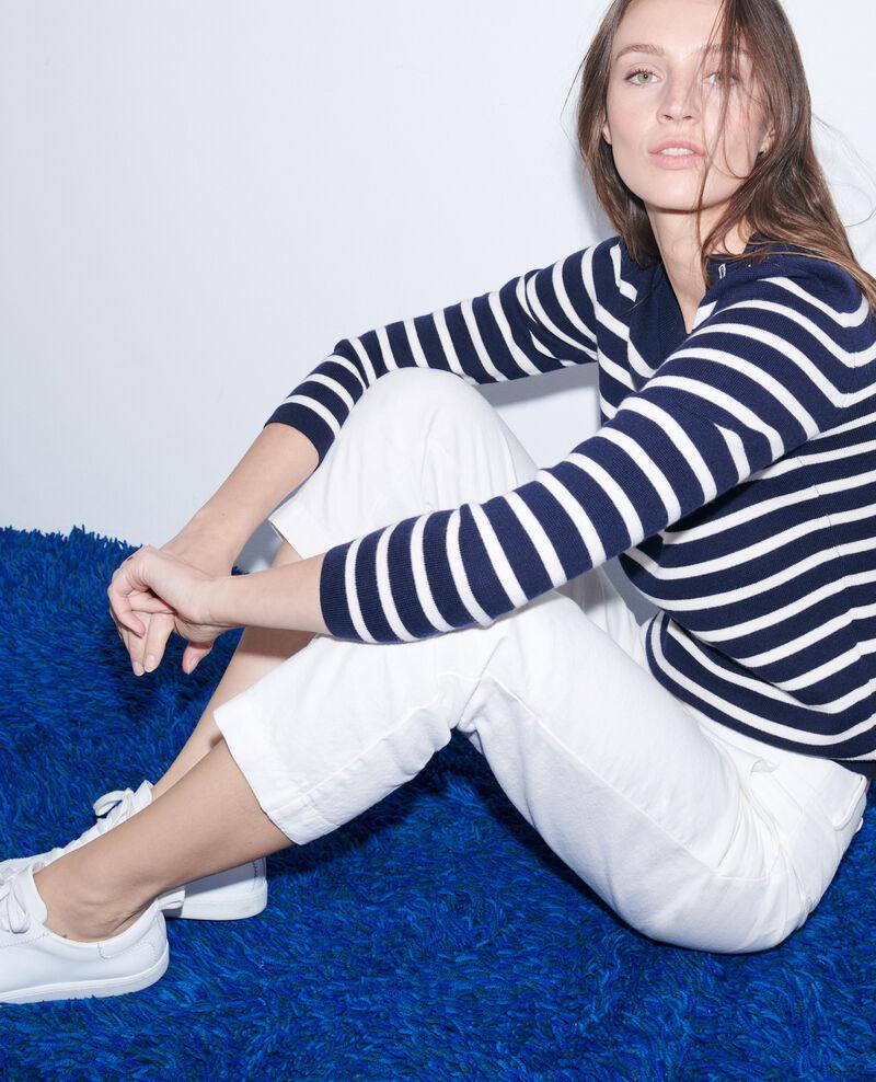 Linen and cotton 7/8 trousers Gardenia Laiguillon