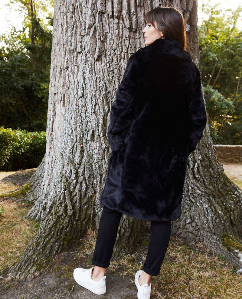 Synthetic fur coat Noir Jaout