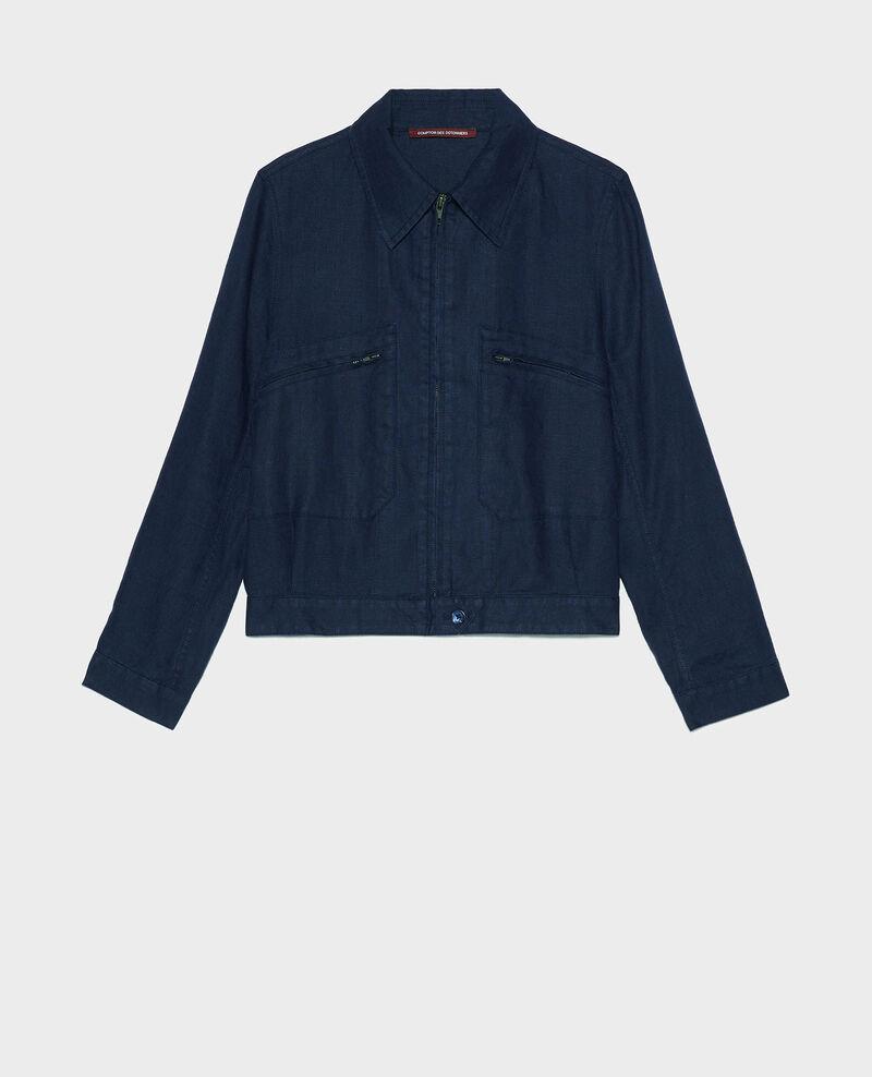 Linen jacket Maritime blue Loubajac