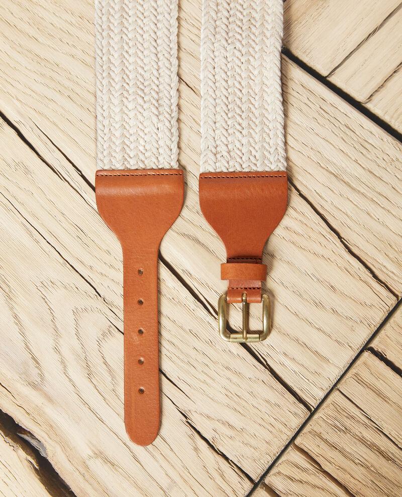 Fabric blend belt Ow/camel Icoton