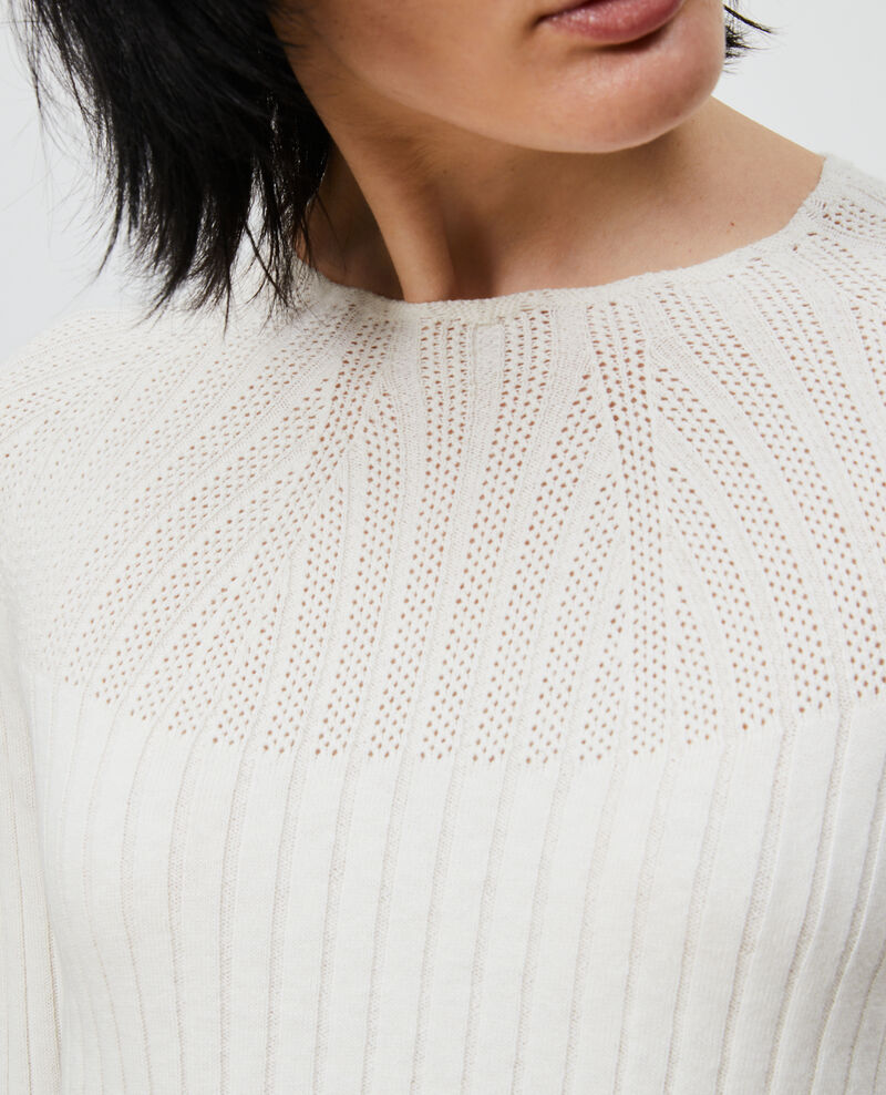 3D knit lace jumper Gardenia Nosard