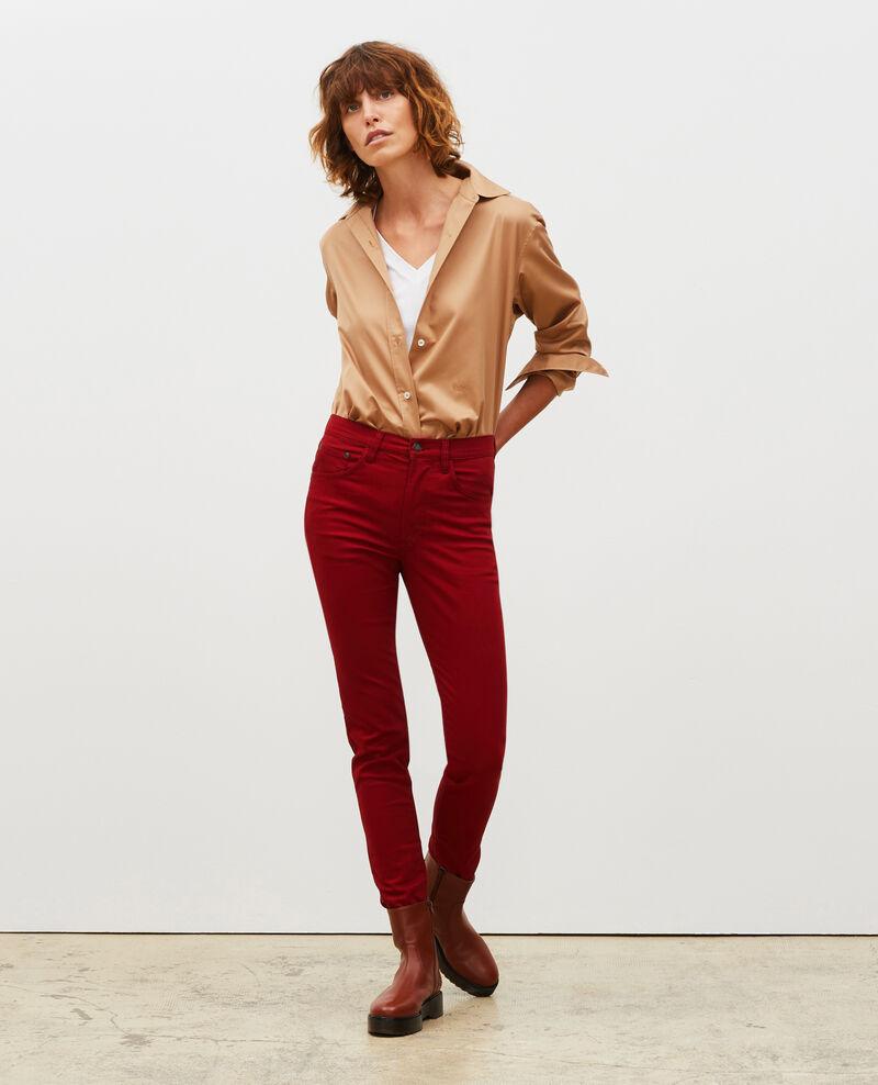 SKINNY - 5 pocket jeans Royale red Mozakiny