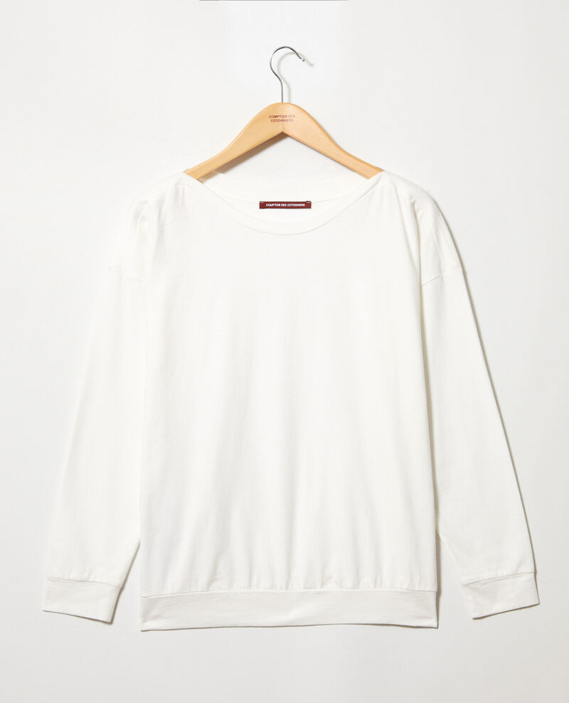 Boatneck sweatshirt Off white Inkaja