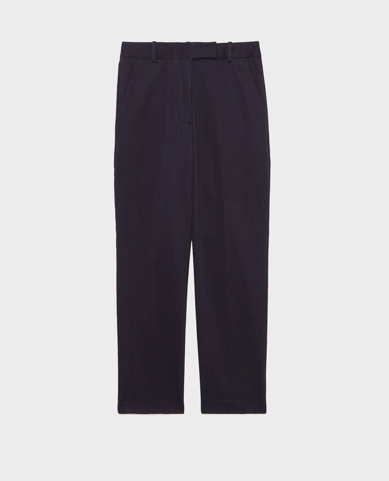 Tapered cotton 7/8 chinos Night sky Mezel