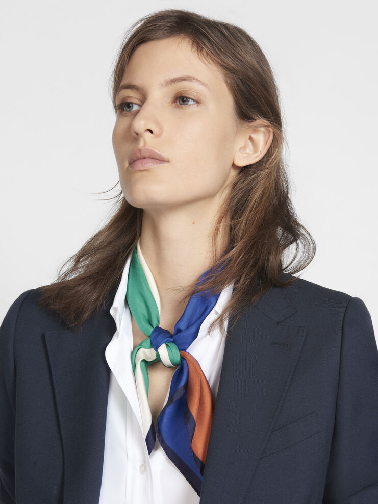 Silk scarf Surf the web Lassana