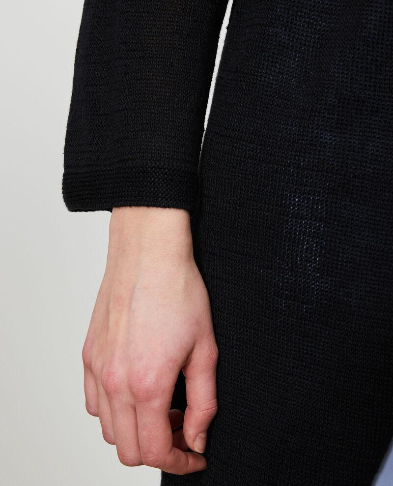 Long linen cardigan Black beauty Lalima