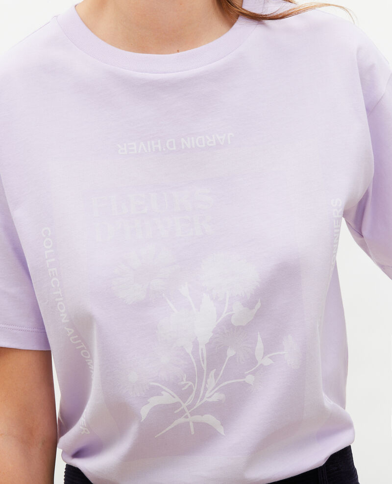 Wide cotton t-shirt Pastel lilac Masny