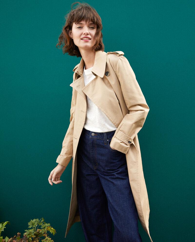 Mid-length trench coat Travertine Gabien