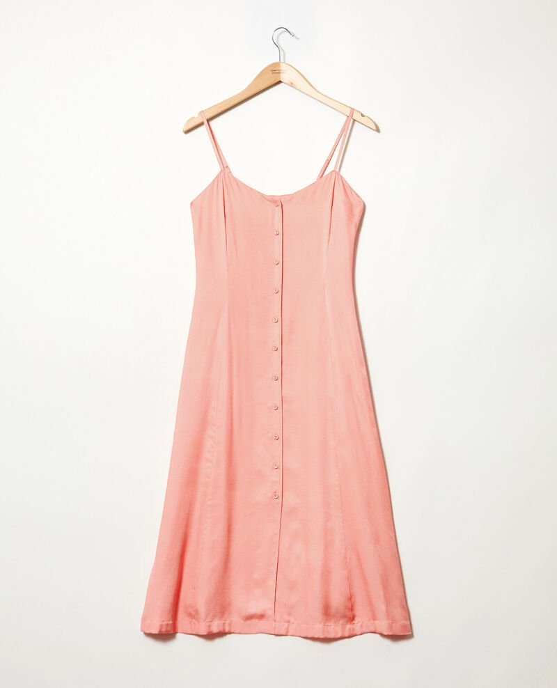Silk blend dress Salmon pink Ibriella