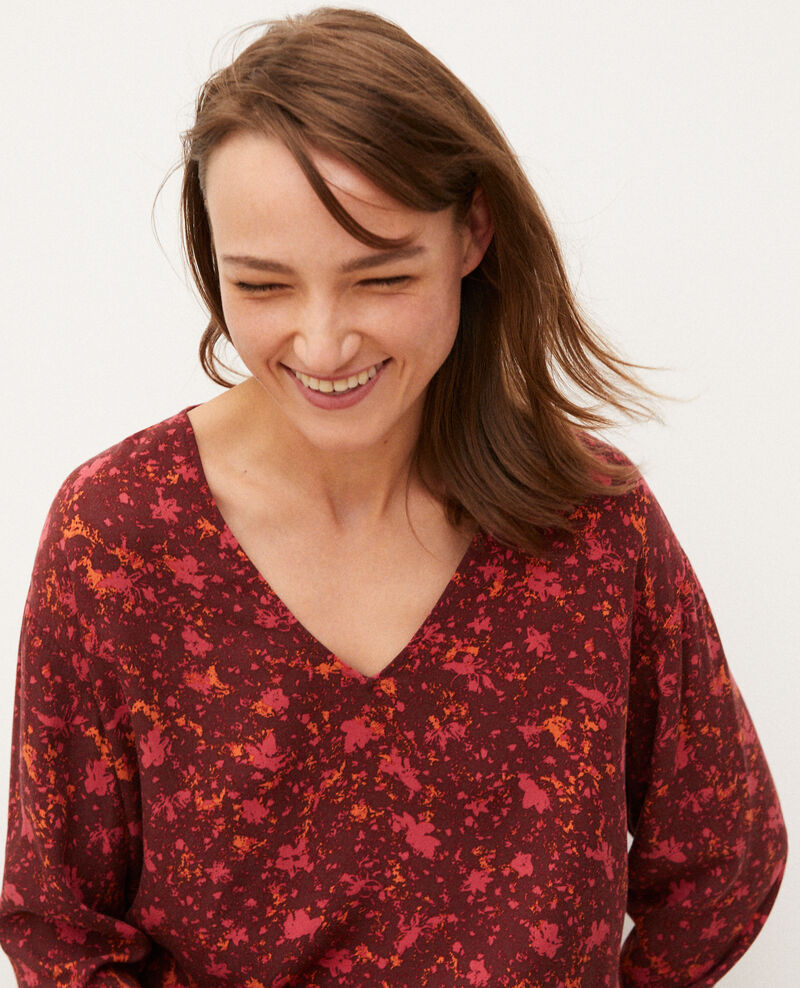 V-neck blouse Red Goisson