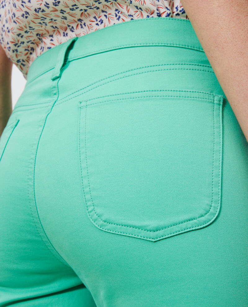 DANI - SKINNY - 5 pocket jeans Jade cream Mozakiny