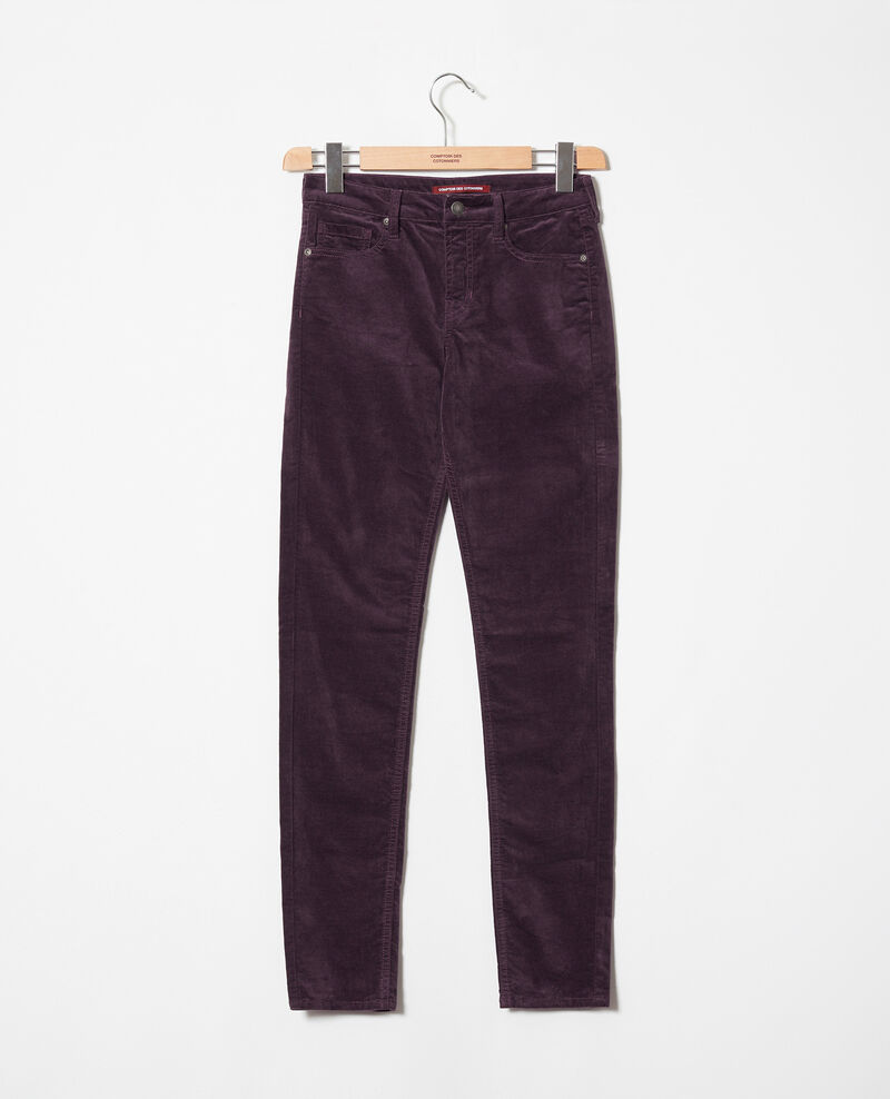Smooth velvet trousers Fudge Juillemin