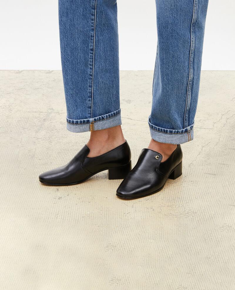 Leather moccasins Black beauty Meaux