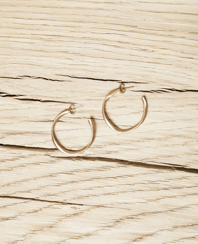 Textured round earrings Gold Imoni