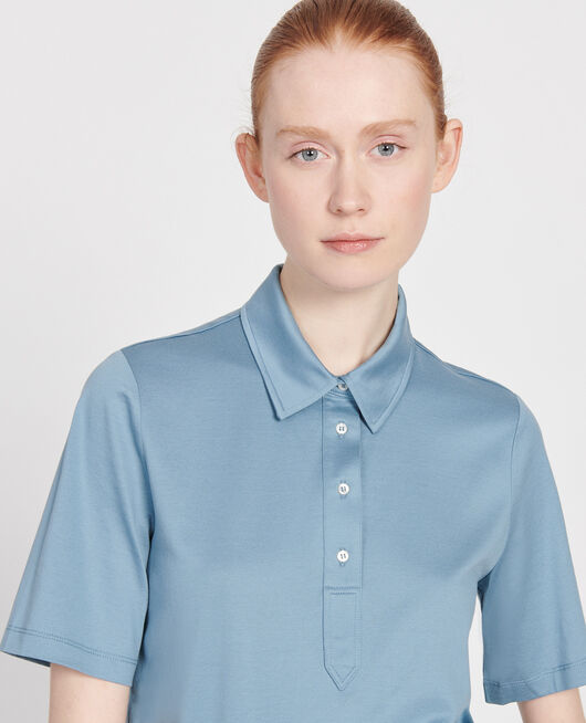 Cotton polo shirt BLUESTONE
