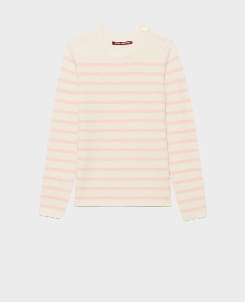 MADDY - Striped wool jumper Stp_grd_shell Liselle