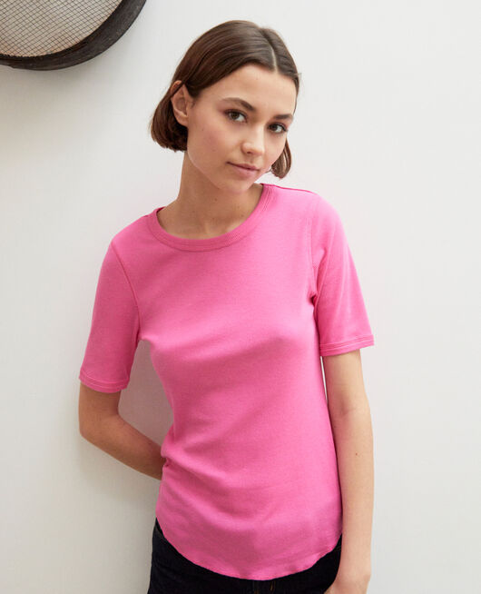 Ribbed t-shirt  WILD ORCHID