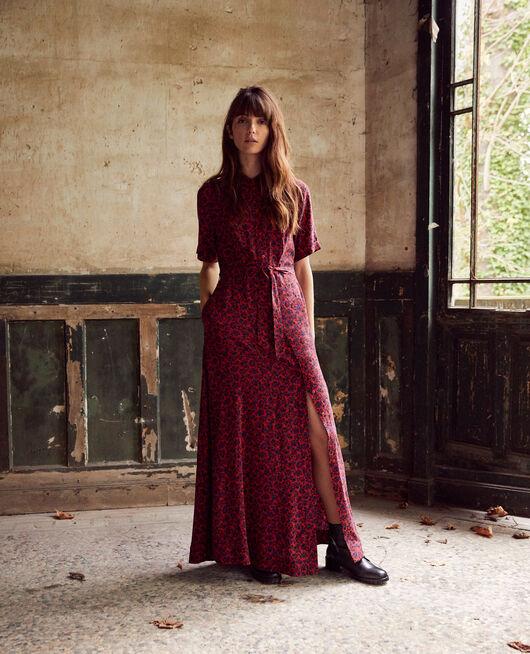 Printed maxi dress NF MOLTEN LAVA
