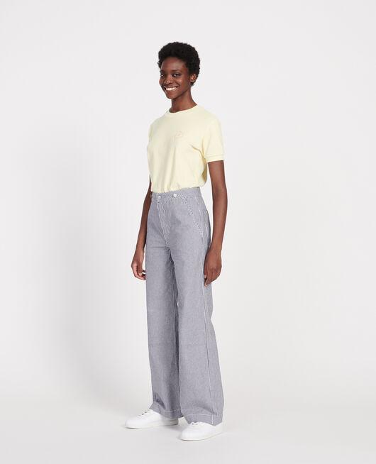 Wide leg jeans DENIM STRIPES