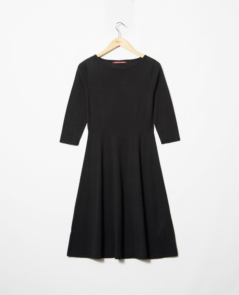 Wool dress Noir Irika