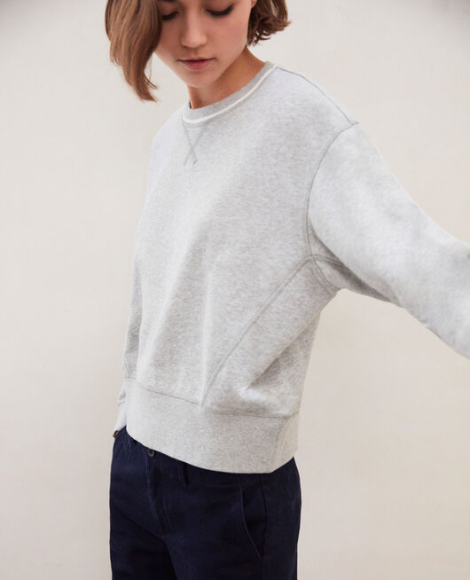Lifewear sweatshirt HEATHER GR/OW