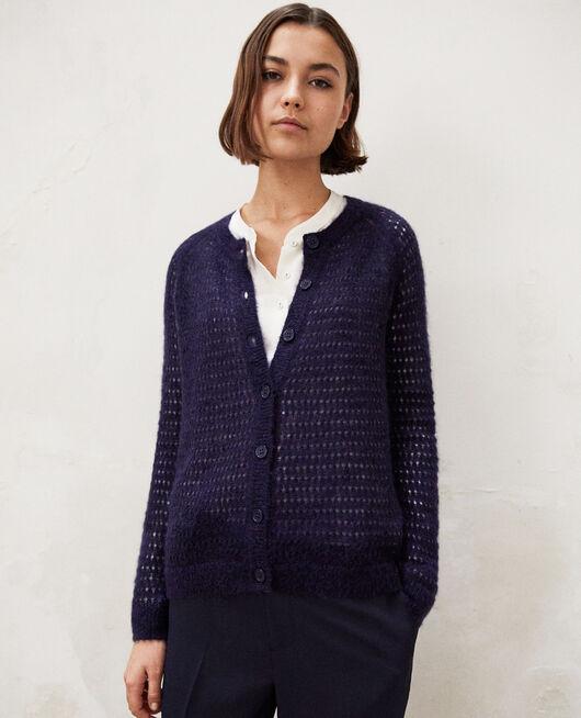 Novelty knit cardigan INK NAVY