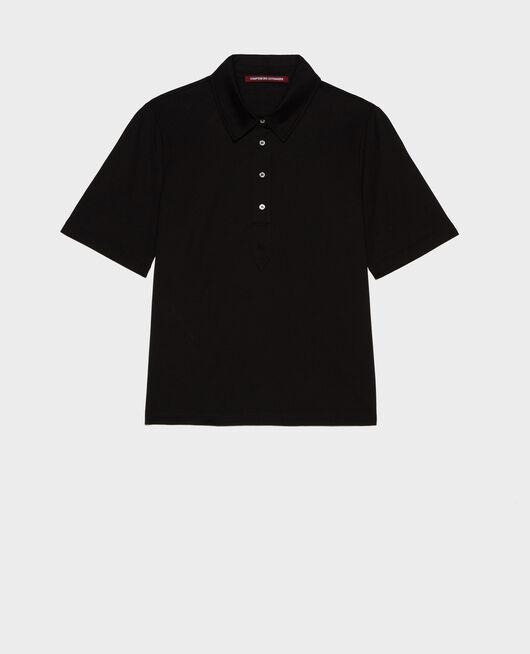 Cotton polo shirt BLACK BEAUTY