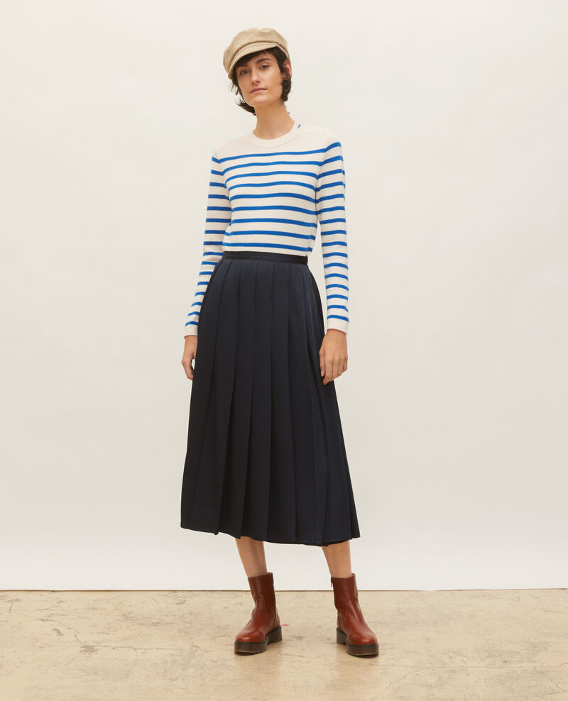 Striped wool jumper Stripes princess blue gardenia Liselle