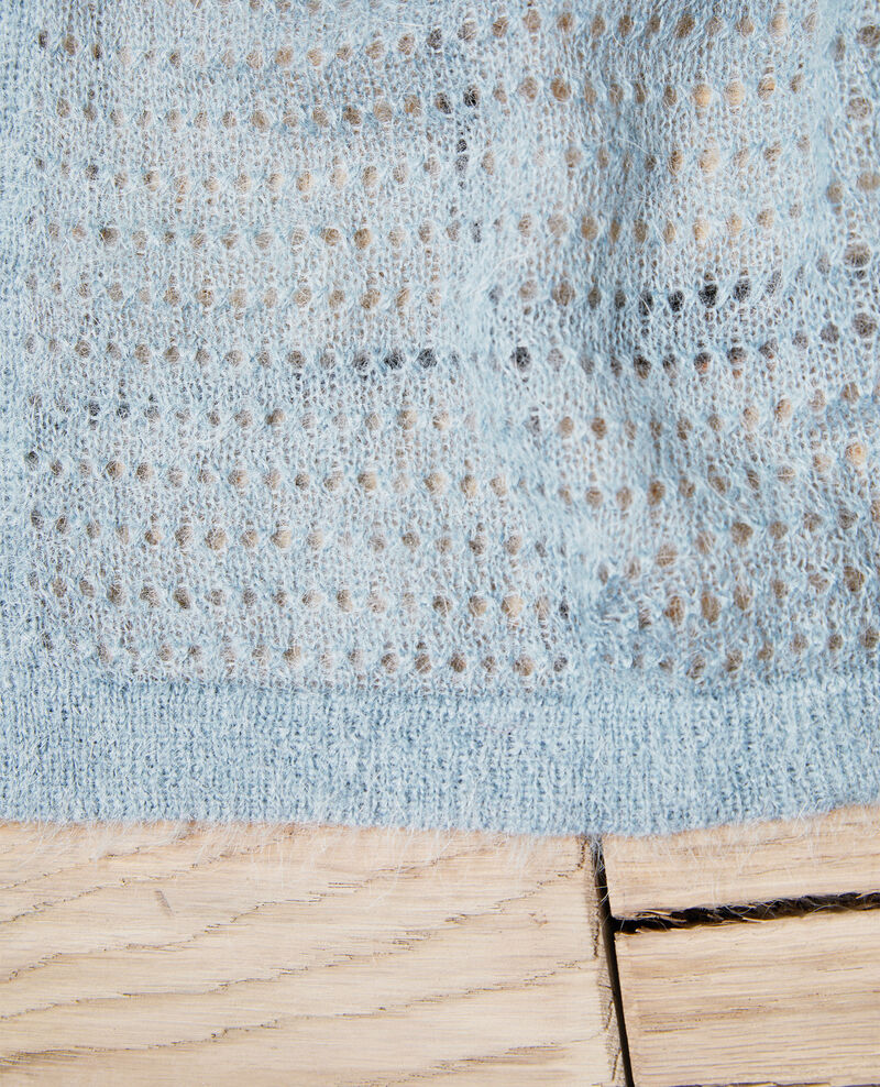 Novelty knit scarf Blue mirage Imohair