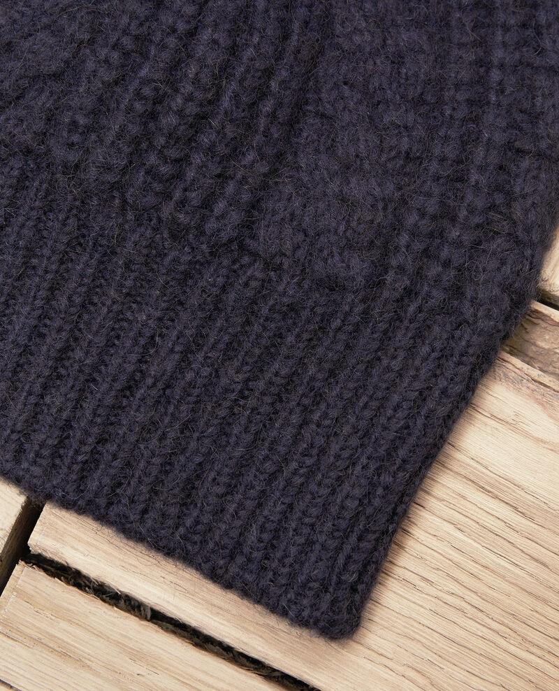 Cable-knit beanie Dark navy Jibonnet