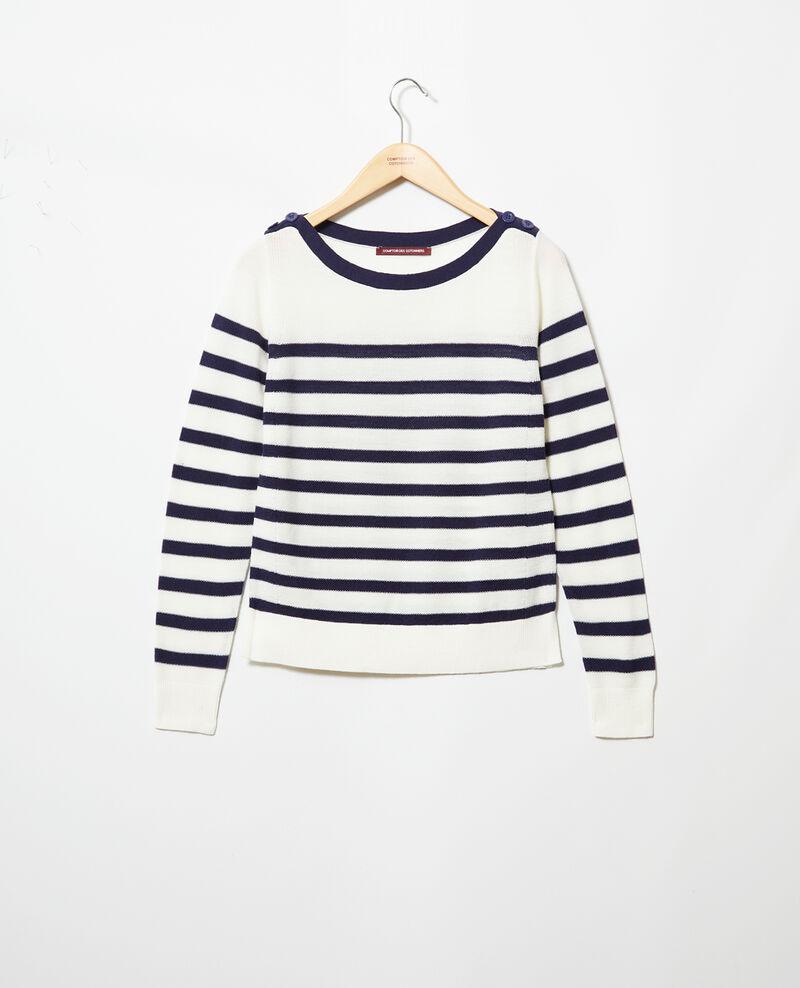 Striped wool jumper Blanc Ibateau