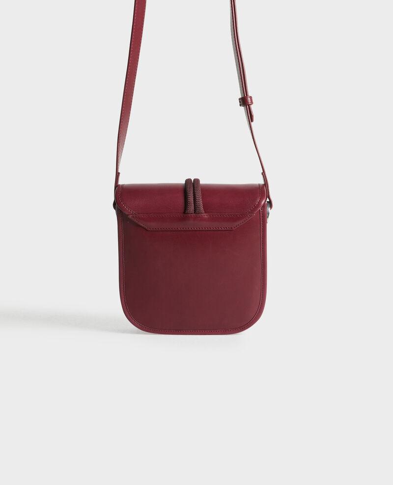 Small leather shoulder bag Cabernet Peretbelair