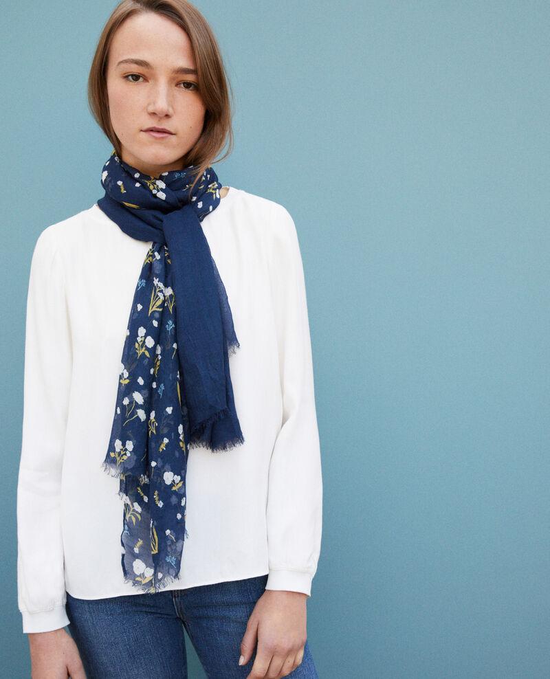 Printed scarf Blue Go