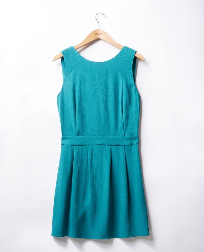 Dress with low-cut back Pacific green Fidele