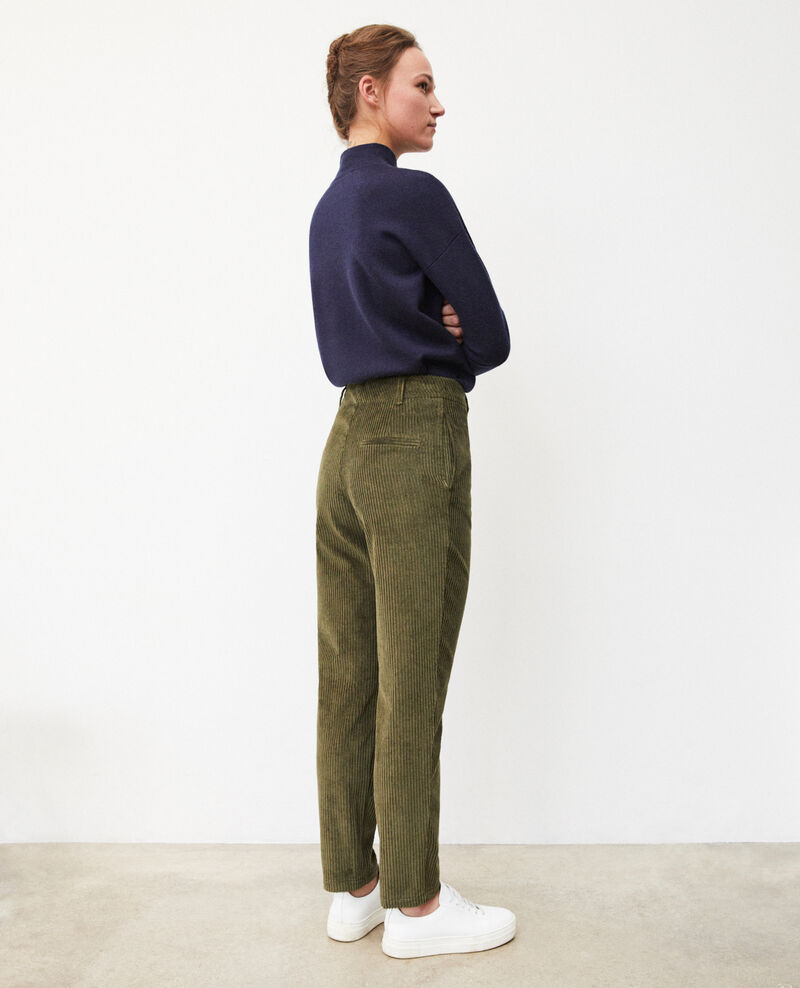 Ribbed corduroy trousers Olive night Ganasso