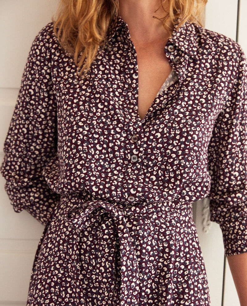 Printed dress Leopard potent purple Joleil