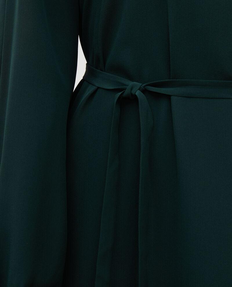 V-neck silk maxi dress with belt Scarab Marieux