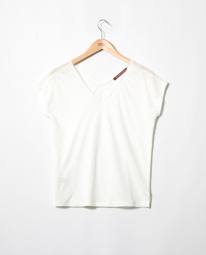 T-shirt with lace Off white Itlanta