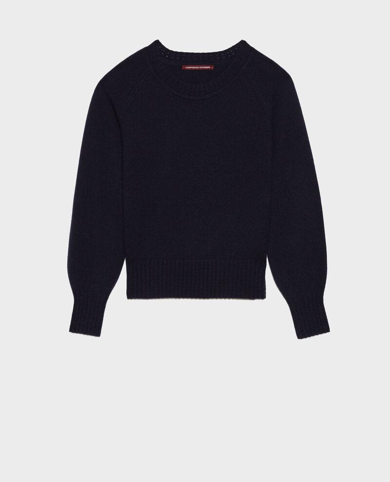 Round-neck cashmere jumper Night sky Nogna
