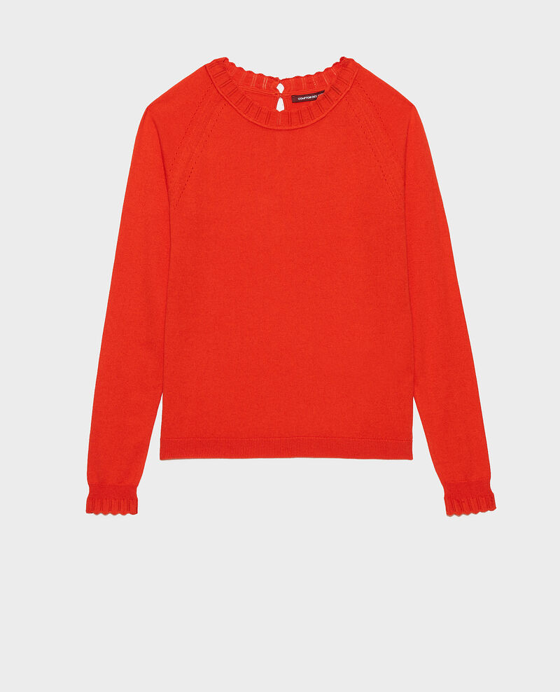 Cotton and silk jumper Spicy orange Nita