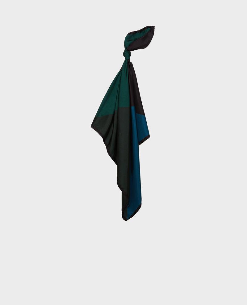Square scarf in multi-coloured silk Scarab Massana